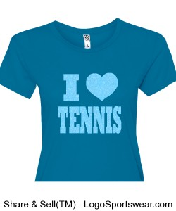 Women's I Heart Tennis Design Zoom